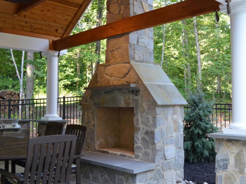 Pool House, Outdoor Kitchen & Fireplace | Greensward LLC