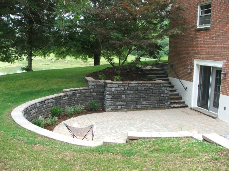 Patio and Retaining Walls