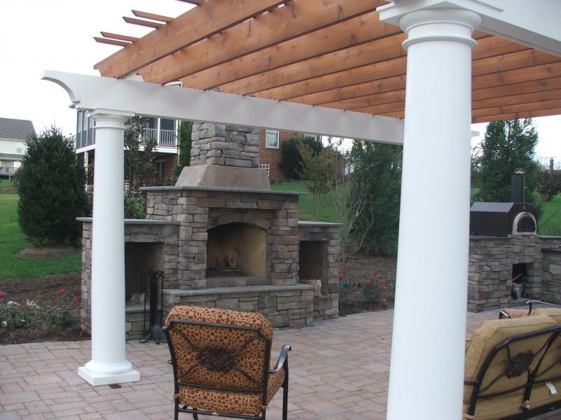 Fireplace Design madison fireplace and patio : Outdoor Kitchen, Patio & Pergola in Culpeper, VA | Greensward LLC