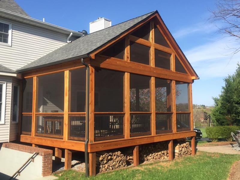 Cedar Screened Porch- Culpeper, VA