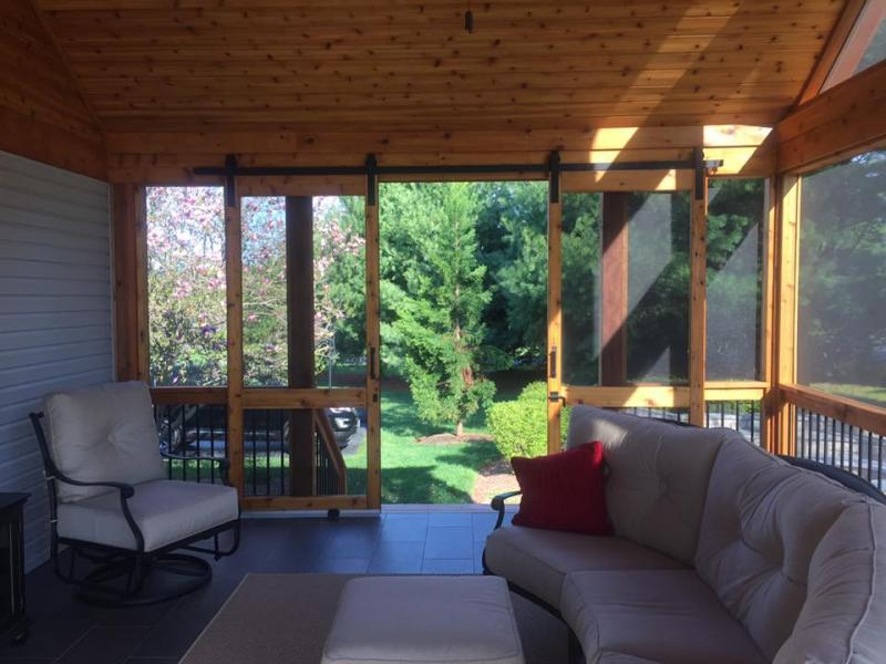 Cedar Screened Porch- Interior
