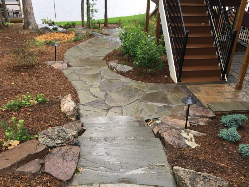 Natural Stone Walkway to Lake Anna