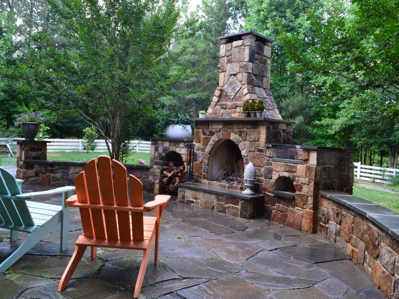 natural stone fireplace- Charlottesville, VA
