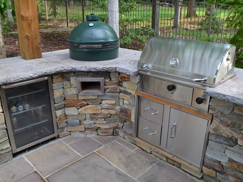 Rustic Outdoor Kitchen- Fredericksburg, VA