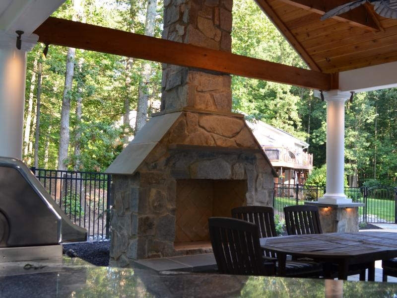 Stone Fireplace- Warrenton, VA