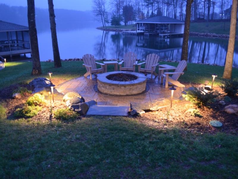 Fire Pit Lighting Landscaper Mineral, VA