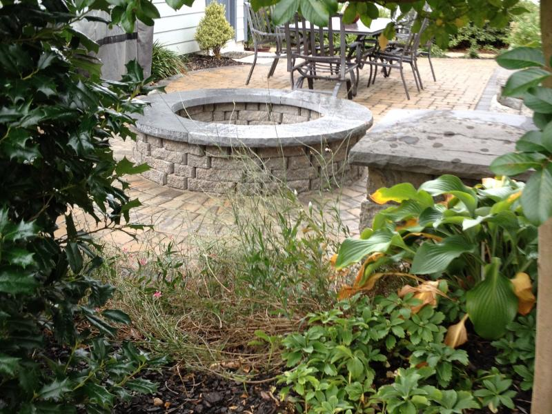 Perennial Plantings and Fire Pit