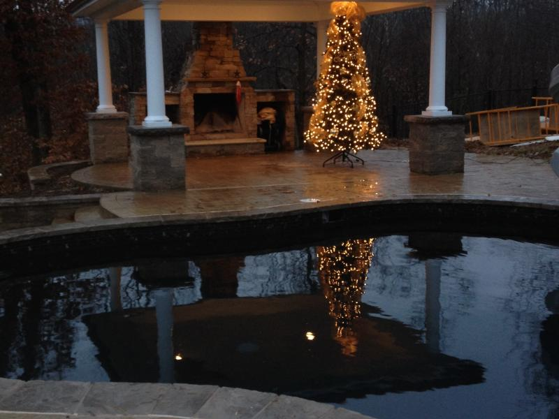 Christmas by the Pool- Fredericksburg, VA
