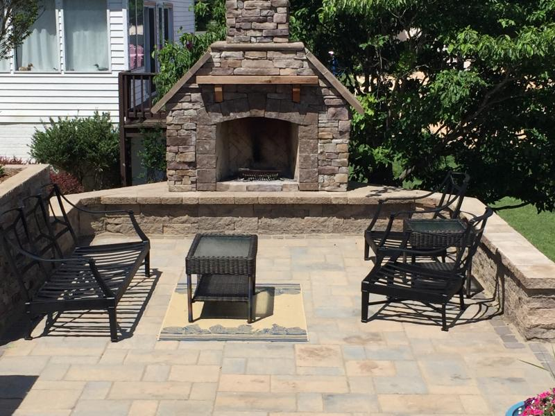 Patio and Fireplace- Orange, VA