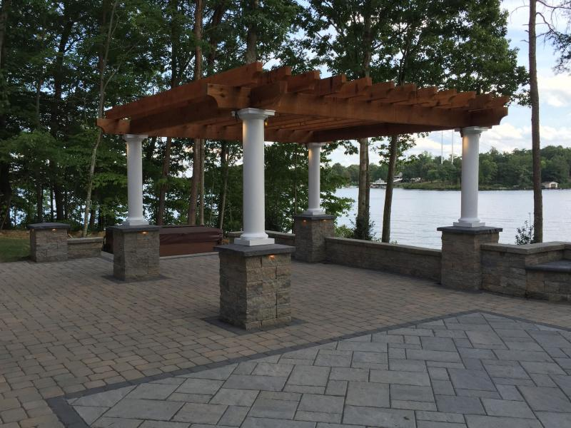 Techo Bloc Patio on Lake Anna