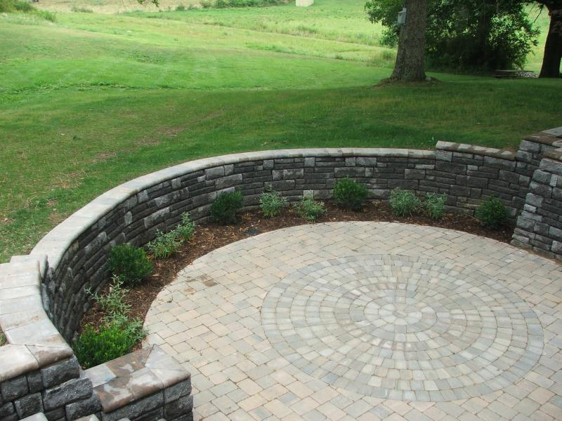 Patio and Retaining Wall, Culpeper, VA